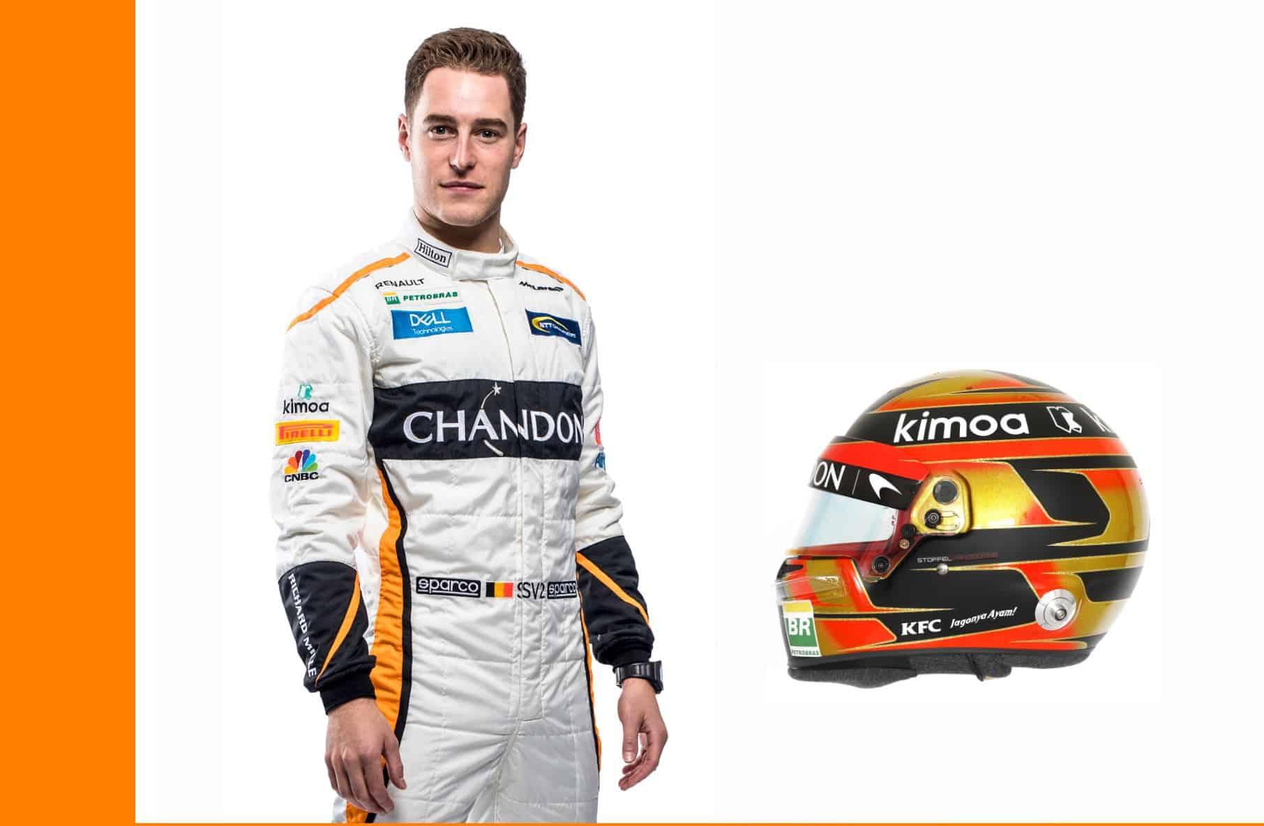 Stoffel Vandoorne McLaren MCL33 Renault F1 2018 profile helmet full
