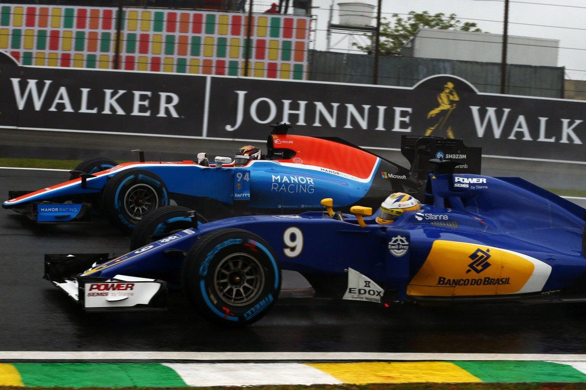 Wehrlein Manor Ericsson Sauber Brazil F1 2016 Foto Twitter