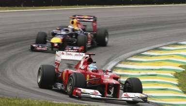 Alonso leads Vettel Brazil F1 2012 Foto Red Bull