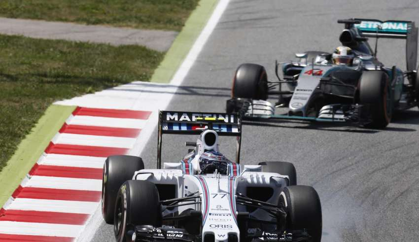 Bottas leads Hamilton Spanish GP F1 2016 Foto Williams
