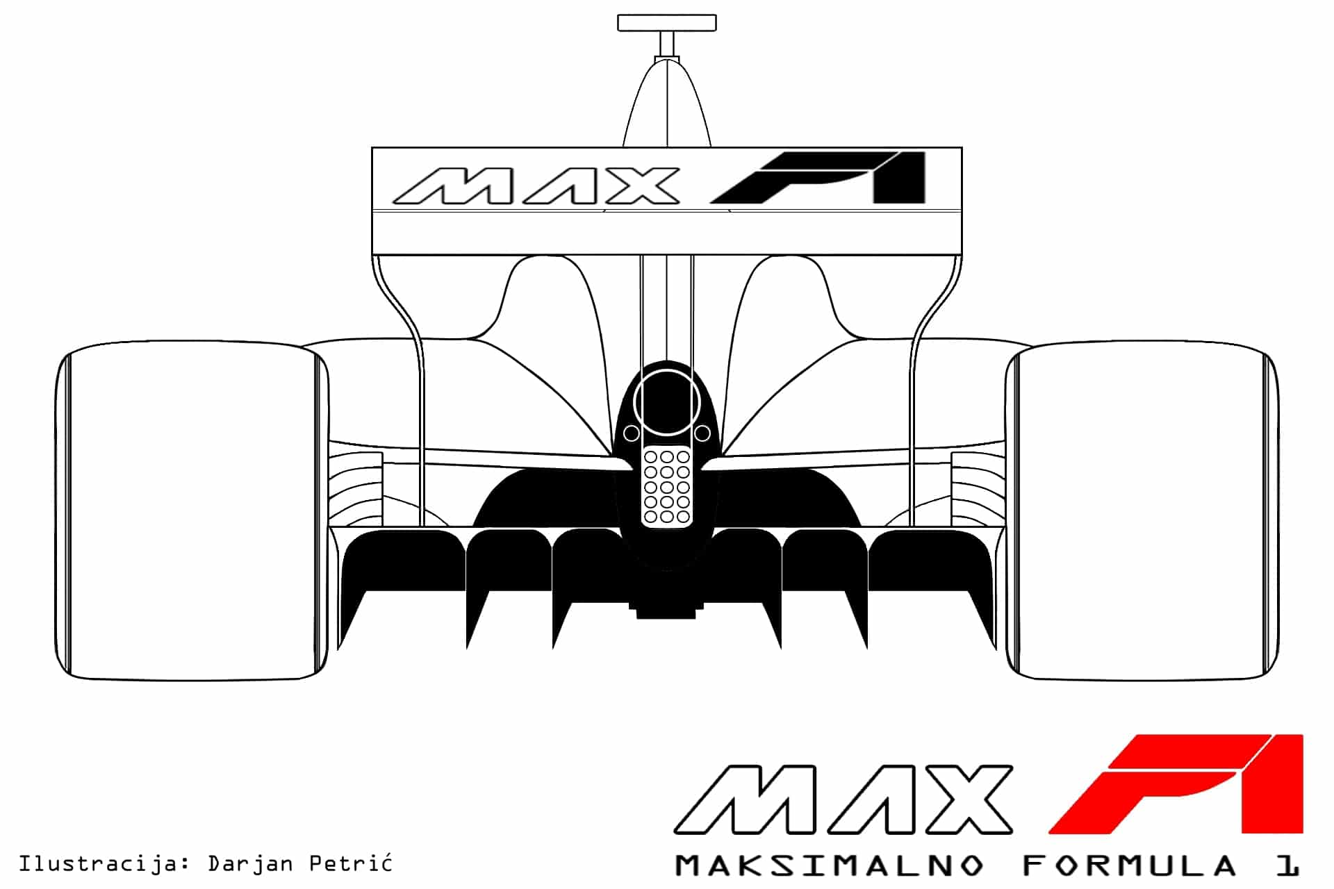 Formula 1 2017 car rear technical drawing by Darjan Petric maxf1.net hrv red