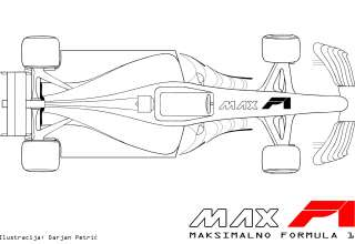 Formula 1 2017 car top technical drawing by Darjan Petric maxf1.net hrv red