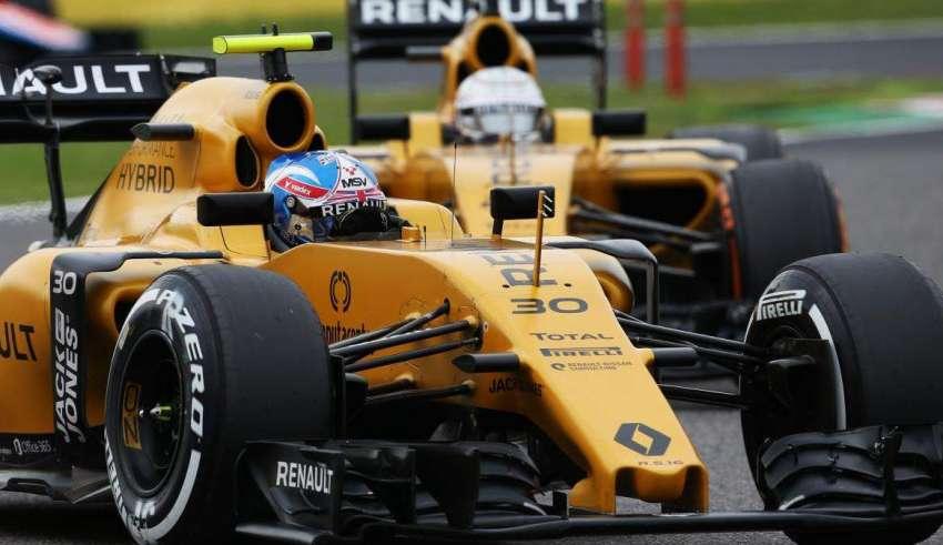Palmer leads Magnussen Foto Renault