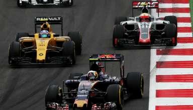 Sainz leads Palmer Austrian GP F1 2016 Foto Red Bull