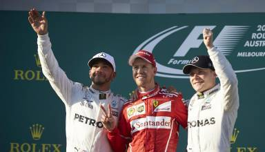 Australian GP F1 2017 podium Foto Daimler