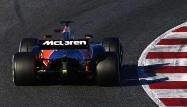 Fernando ALonso McLaren MCL32 Honda Barcelona F1 2017 pre season test FOto McLaren