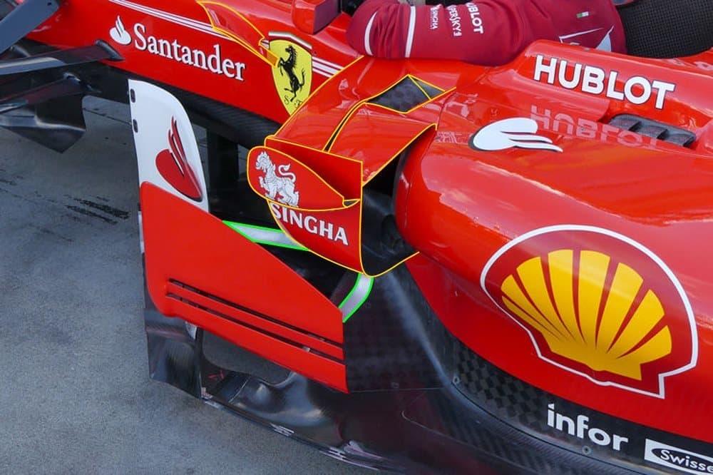 Ferrari SF70H Australian GP F1 2017 sidepods area winglets Foto AMuS MAXF1net