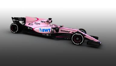 Force India VJM10 Mercedes pink livery Foto Force India