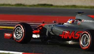 Grosjean Haas F1 2017 Barcelona test Foto Haas