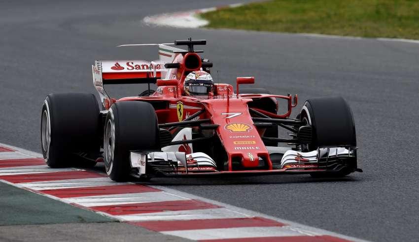 Kimi Raikkonen Ferrari F1 test Barcelona Foto Ferrari