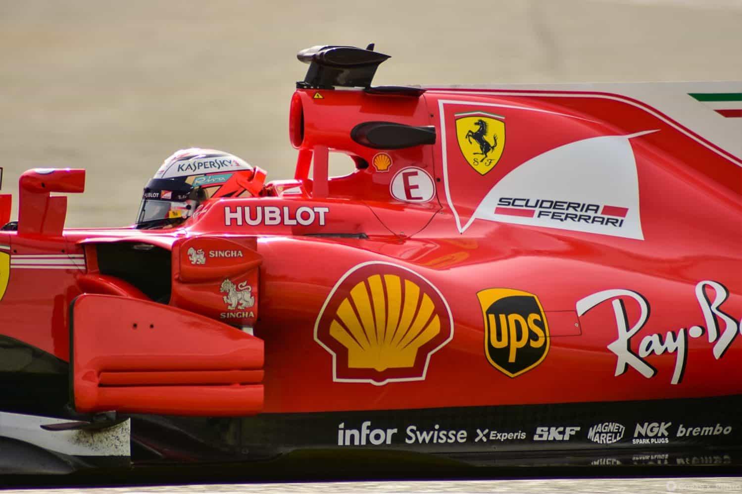 Kimi Raikkonen Ferrari SF70H Barcelona F1 test Foto Goran Kicosevic Photography