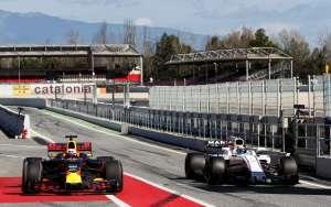 Massa Williams Ricciardo Red Bull Barcelona F1 test 2017 Foto XPB