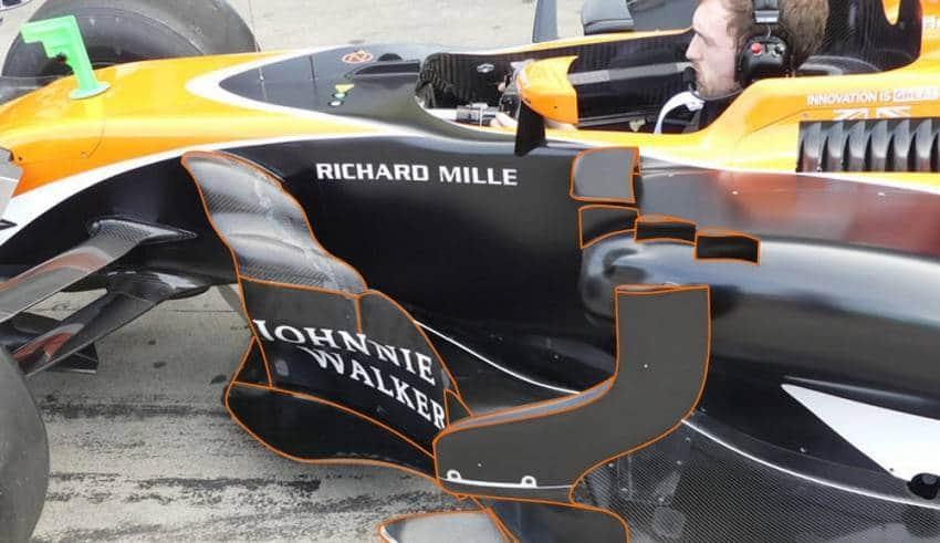 McLaren MCL32 Australian GP aerodynamic package bargeboards side view Foto AMuS