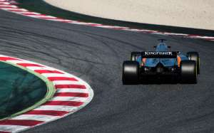 Ocon FOrce India VJM10 Barcelona F1 test Foto Force India