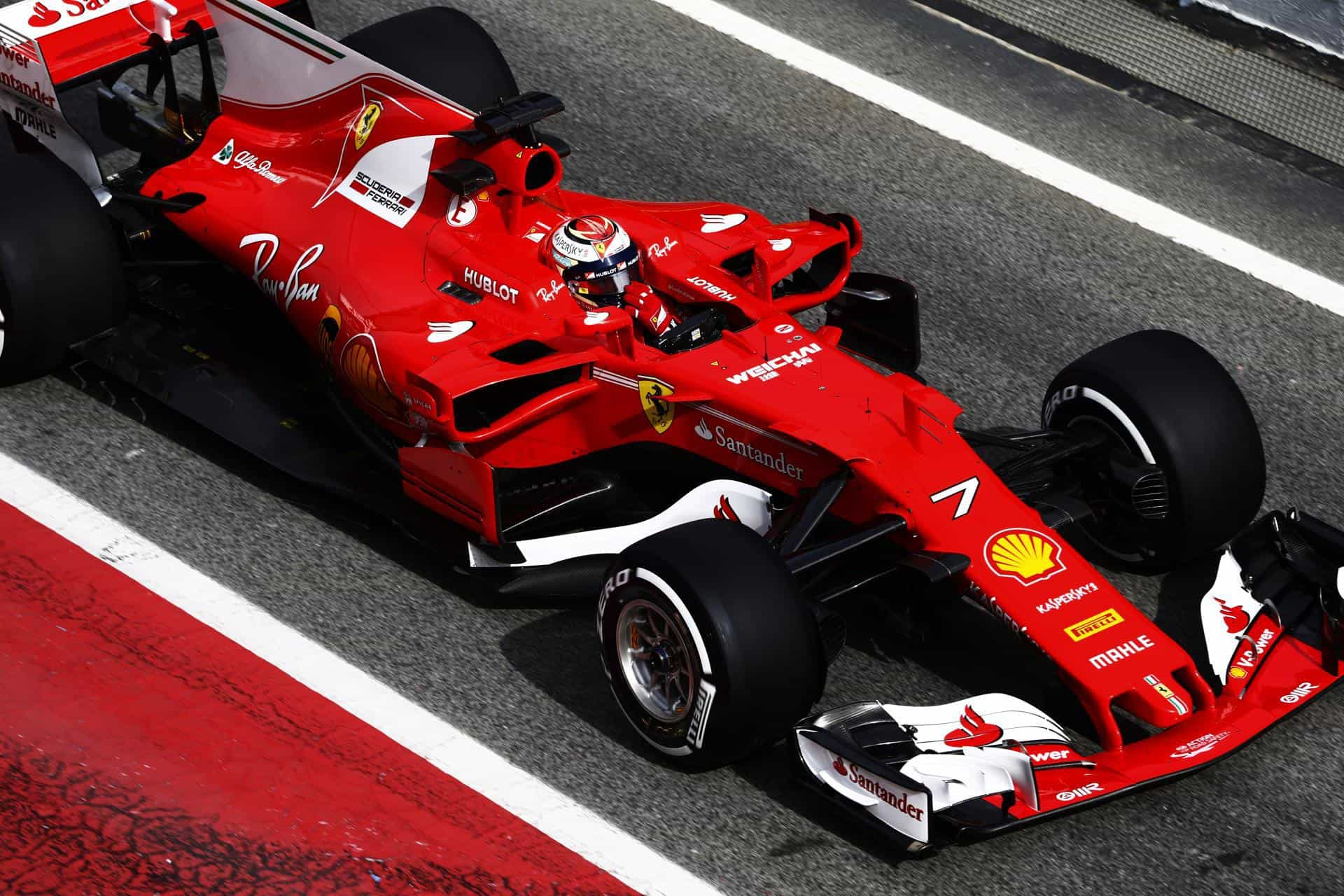 raikkonen barcelona f1 2017 test ferrari sf70h pitlane foto ferrari max f1. Black Bedroom Furniture Sets. Home Design Ideas