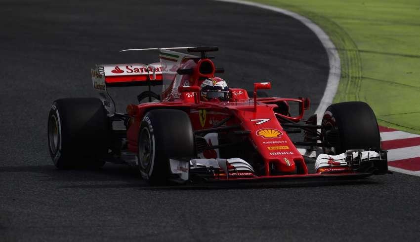 Raikkonen Barcelona F1 2017 testing Ferrari SF70H FOto Ferrari