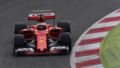 Raikkonen test Barcelona F1 2017 Ferrari SF70H Foto Ferrari