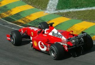 Rubens Barrichello Ferrari F2001 Brazilian GP F1 2002 Foto Ferrari