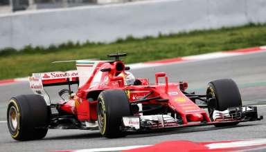 Sebastian Vettel Ferrari SF70H Barcelona test day3 Foto XPB