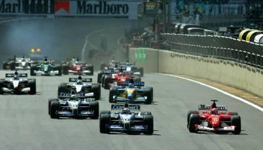 Start of the Brazilian GP F1 2002 Foto Ferrari