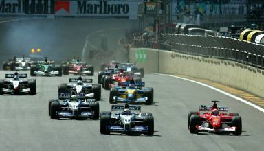 Start of the Brazilian GP F1 2002 Foto Ferrari