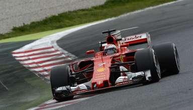 Vettel Barcelona Ferrari SF70H Foto Ferrari