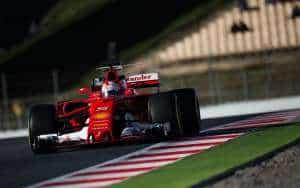 Vettel Ferrari SF70H Barcelona test F1 2017 Foto XPB