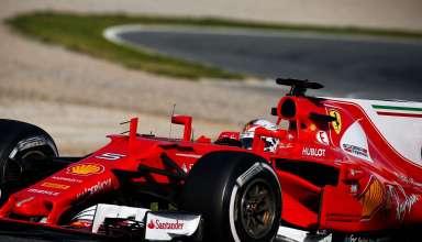 Vettel SF70H Ferrari Barcelona F1 test 2017 Foto XPB