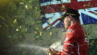 vettel ferrari celebrates victory at australian gp f1 2017 foto ferrari podium