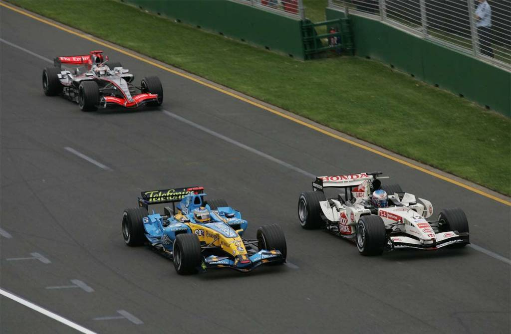 Australian GP F1 2006 Button Alonso Raikkonen Foto Reuters