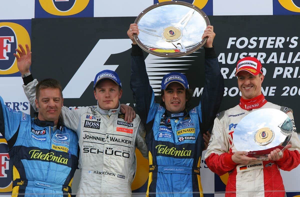 Australian GP F1 2006 podium Alonso Raikkonen Ralf Schumacher