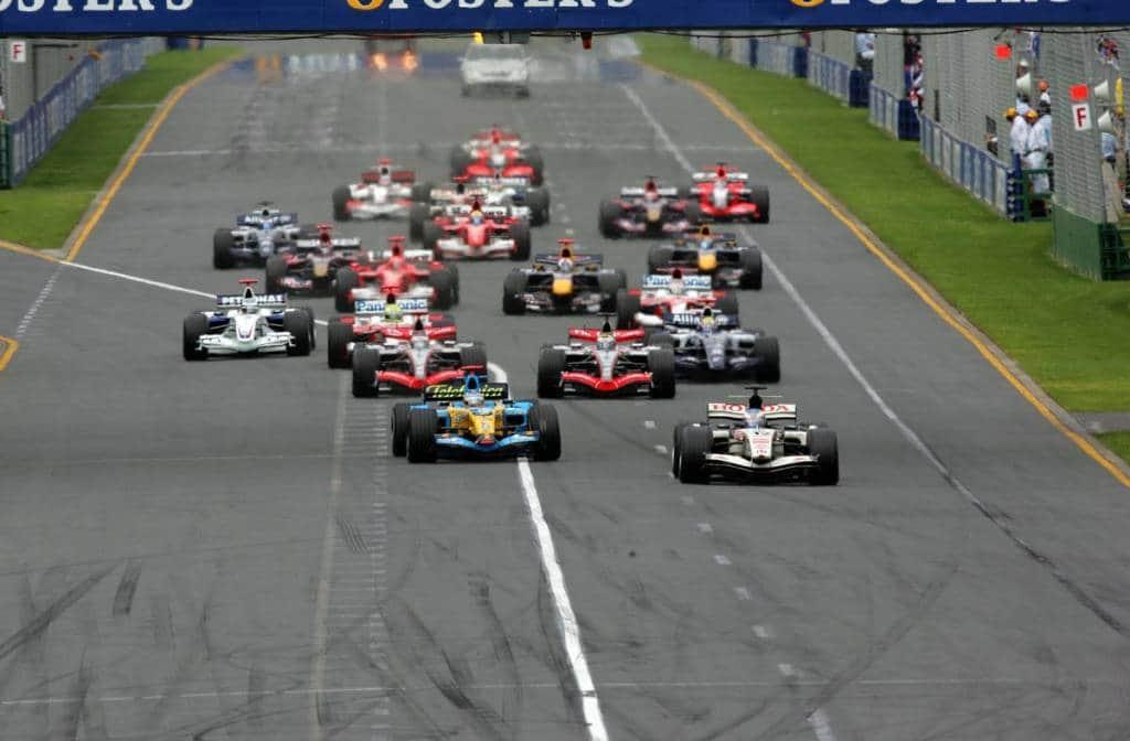 Australian GP F1 2006 start Foto Reuters