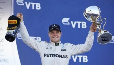 Bottas Mercedes Russian GP F1 2017 podium Foto Daimler