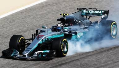 Bottas Mercedes W08 Bahrain test F1 2017