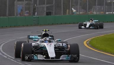 Bottas leads Hamilton Australian GP practice F1 2017 Foto Daimler