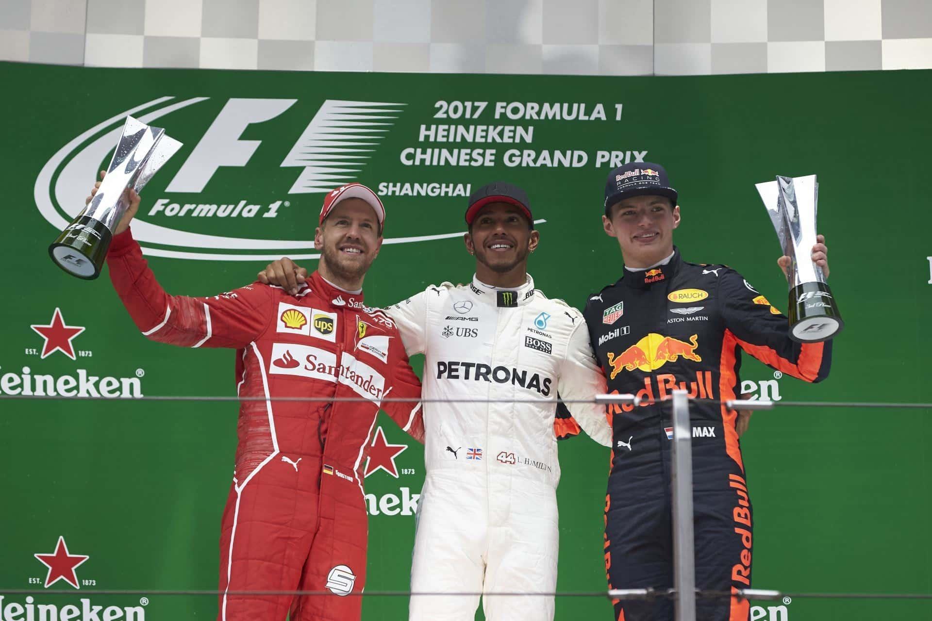 Chinese GP F1 2017 podium Foto Daimler