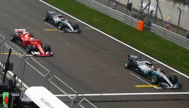Chinese GP F1 2017 start top3 Foto Daimler