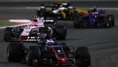 Grosjean Bahrain GP F1 2017 Haas VF-17 Foto Haas