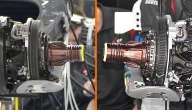 Haas VF17 brake comparison Foto MAXF1net