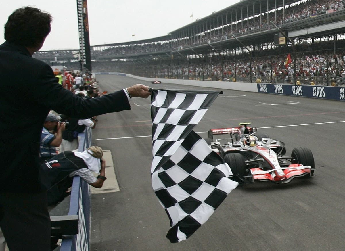 Hamilton wins USA GP Indianapolis F1 2007 Foto Reuters
