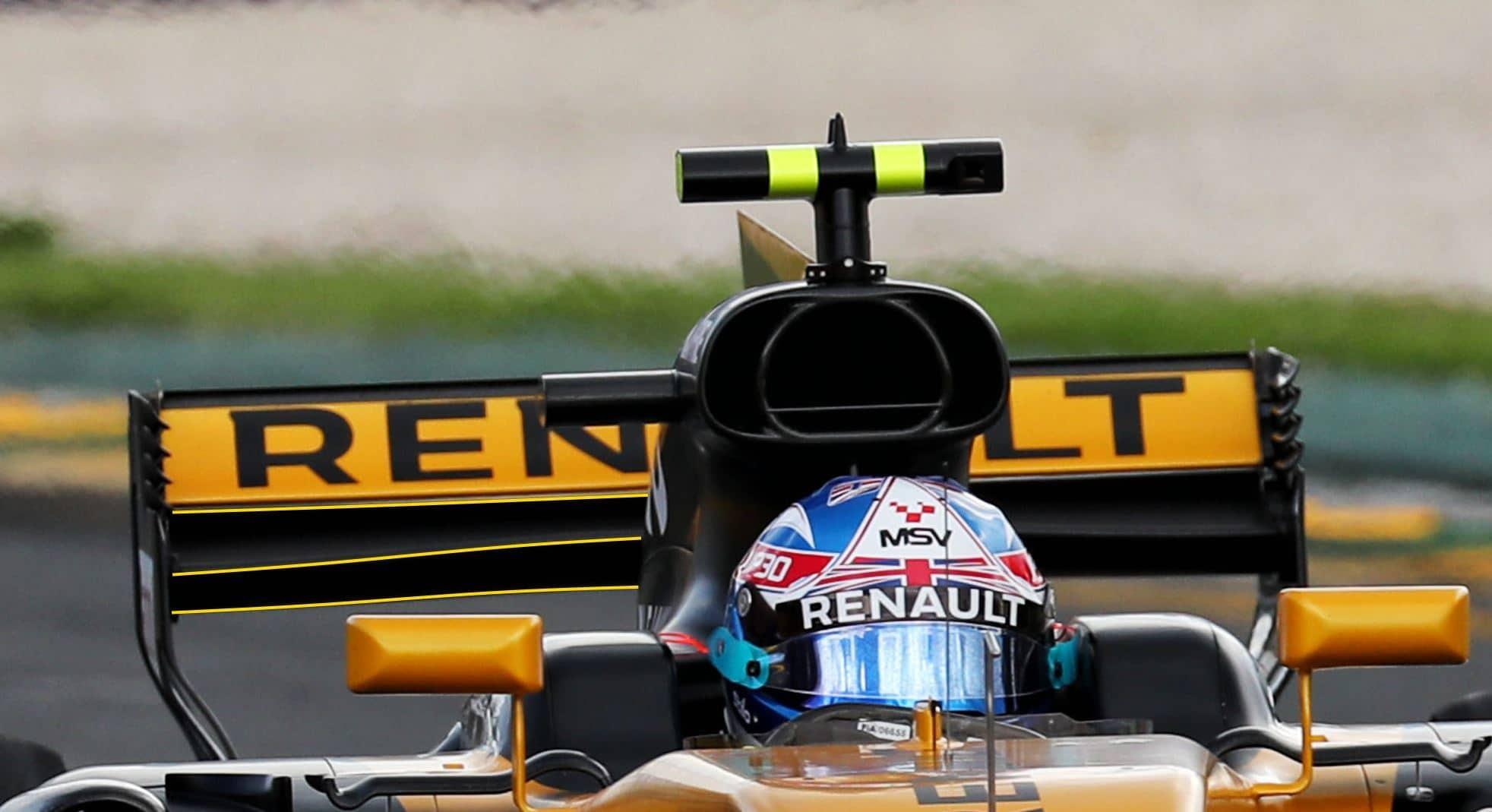 Renault RS17 rear wing Australia F1 2017 Foto Renault MAXF1net