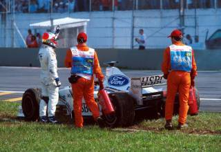 rubens barrichello retires from the brazilian gp f1 1999 foto f1history