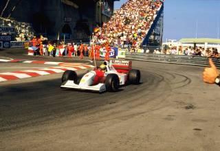 Ayrton Senna Monaco F1 1993 victory celebration
