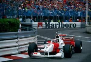 Coulthard McLaren Monaco Michael Schumacher Helmet F1 1996