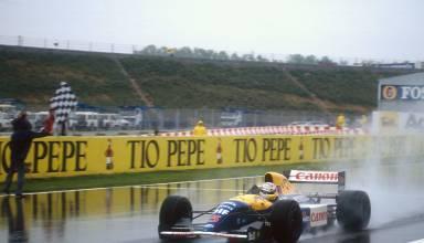 Mansell Williams Renault SPanish GP f1 1992 Foto Williams