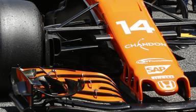 McLaren MCL32 front wing Spanish GP F1 2017 Foto McLaren