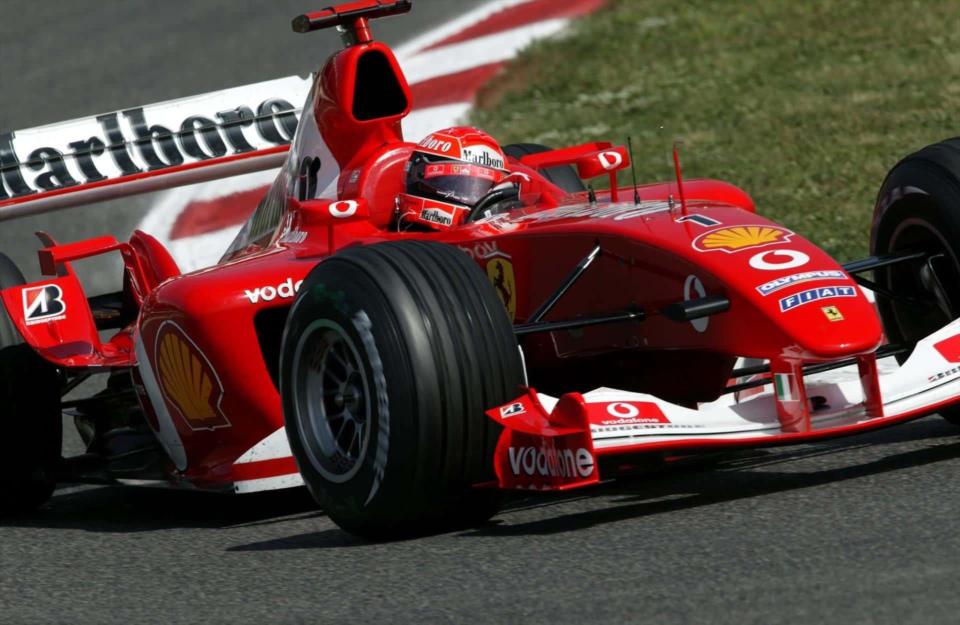 2003 Spanish Gp Schumacher Wins In New F2003 Ga Alonso Splits The Ferraris
