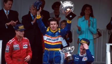 Monaco 1996 podium F1 Panis Couhtard Herbert Foto playbuzz