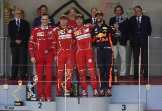 Monaco-GP-F1-2017-podium-after-the-race-Foto-Ferrari