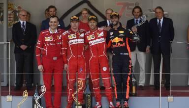Monaco-GP-F1-2017-podium-after-the-race-Foto-Ferrari